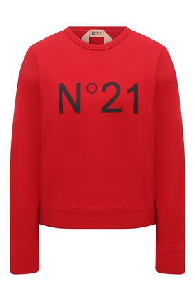 Женский хлопковый свитшот N21 красного цвета, арт. 21E N2M0/E041/6313 | Фото 1