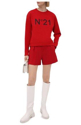 Женский хлопковый свитшот N21 красного цвета, арт. 21E N2M0/E041/6313 | Фото 2