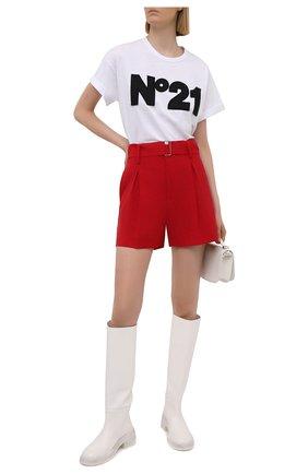 Женские шерстяные шорты N21 красного цвета, арт. 21E N2M0/D021/3133 | Фото 2