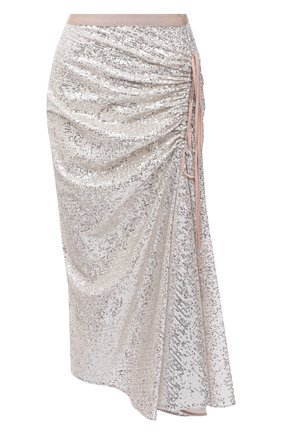 Женская юбка с пайетками N21 серебряного цвета, арт. 21E N2M0/C052/4748 | Фото 1