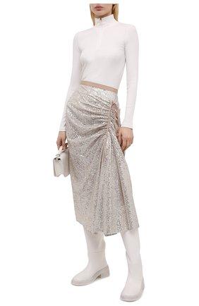 Женская юбка с пайетками N21 серебряного цвета, арт. 21E N2M0/C052/4748 | Фото 2