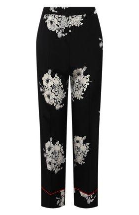 Женские шелковые брюки N21 черно-белого цвета, арт. 21E N2M0/B062/5544 | Фото 1
