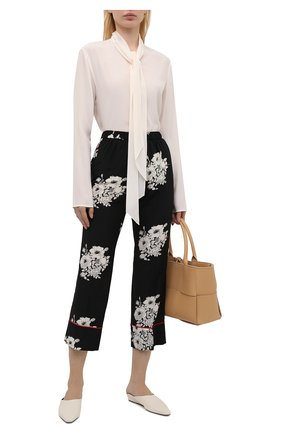 Женские шелковые брюки N21 черно-белого цвета, арт. 21E N2M0/B062/5544 | Фото 2