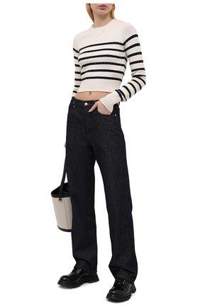 Женский хлопковый свитер N21 кремвого цвета, арт. 21E N2M0/A016/7590 | Фото 2