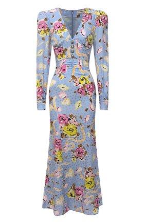 Женское шелковое платье ALESSANDRA RICH голубого цвета, арт. FAB2491-F3166 | Фото 1