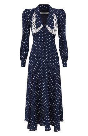 Женское шелковое платье ALESSANDRA RICH синего цвета, арт. FAB2350-F3132 | Фото 1