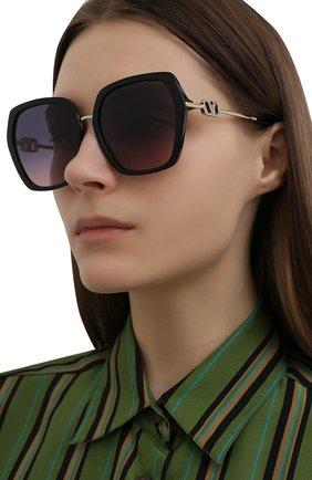 Женские солнцезащитные очки VALENTINO голубого цвета, арт. 4081-5001I6   Фото 2