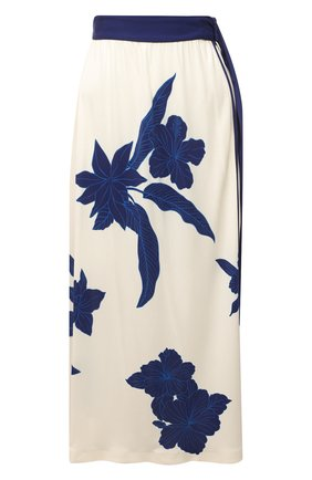 Женская юбка из вискозы и шелка LORO PIANA синего цвета, арт. FAL5953   Фото 1
