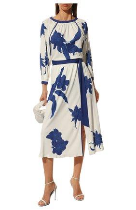 Женская юбка из вискозы и шелка LORO PIANA синего цвета, арт. FAL5953   Фото 2
