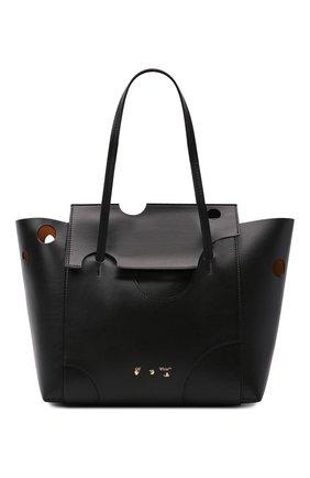 Женский сумка-тоут burrow OFF-WHITE черного цвета, арт. 0WNA160S21LEA004 | Фото 1