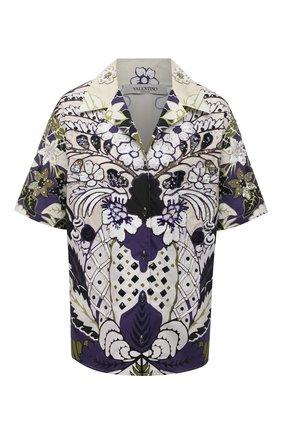 Женская хлопковая рубашка VALENTINO фиолетового цвета, арт. VB3AAA907A2 | Фото 1
