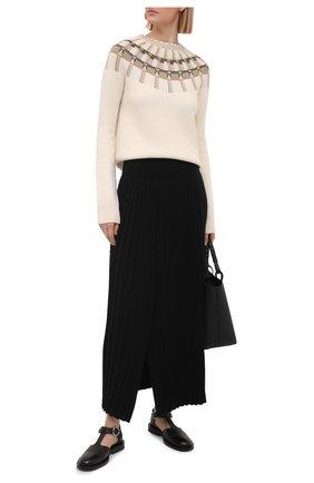 Женский свитер из шерсти и кашемира LANVIN бежевого цвета, арт. RW-P00016-K005-E21   Фото 2