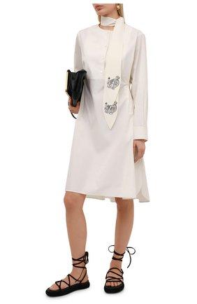 Женское хлопковое платье LANVIN кремвого цвета, арт. RW-DR202Y-4802-P21 | Фото 2