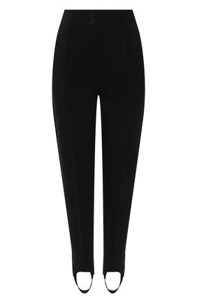 Женские брюки со штрипками THE ROW черного цвета, арт. 5635W1925 | Фото 1