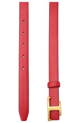 Женский кожаный ремень TOD'S красного цвета, арт. XCWTSI30101RBR   Фото 2