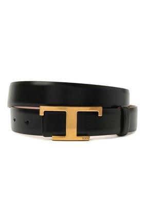 Женский кожаный ремень TOD'S черного цвета, арт. XCWTSI10101M73   Фото 1