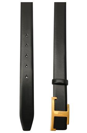 Женский кожаный ремень TOD'S черного цвета, арт. XCWTSI10101M73   Фото 2