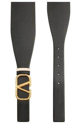 Женский кожаный пояс  VALENTINO черного цвета, арт. VW0T0V50/VNC | Фото 2 (Кросс-КТ: Широкие)