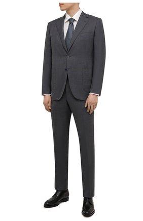 Мужские кожаные дерби KITON черного цвета, арт. USSDECHN00101 | Фото 2