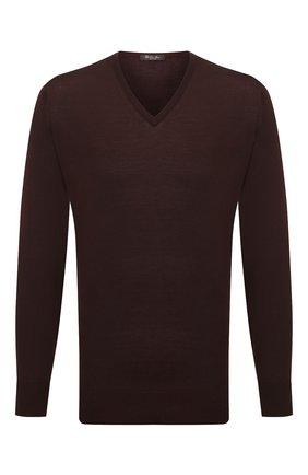 Мужской шерстяной пуловер LORO PIANA темно-коричневого цвета, арт. FAL1469 | Фото 1