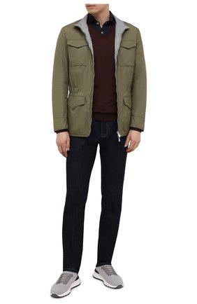 Мужской шерстяной пуловер LORO PIANA темно-коричневого цвета, арт. FAL1469 | Фото 2