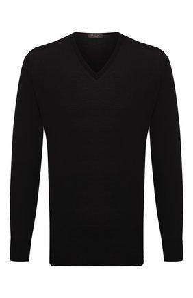 Мужской шерстяной пуловер LORO PIANA темно-синего цвета, арт. FAL1469 | Фото 1