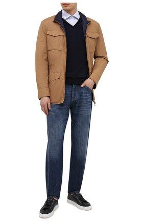 Мужской шерстяной пуловер LORO PIANA темно-синего цвета, арт. FAL1469 | Фото 2