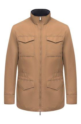 Мужская двусторонняя куртка BRUNELLO CUCINELLI светло-коричневого цвета, арт. MW4386495 | Фото 1