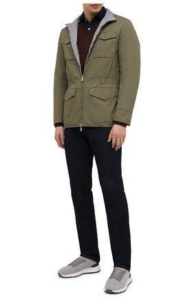 Мужская двусторонняя куртка BRUNELLO CUCINELLI хаки цвета, арт. MW4386495 | Фото 2