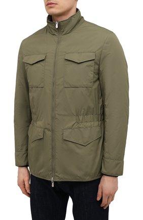 Мужская двусторонняя куртка BRUNELLO CUCINELLI хаки цвета, арт. MW4386495 | Фото 3