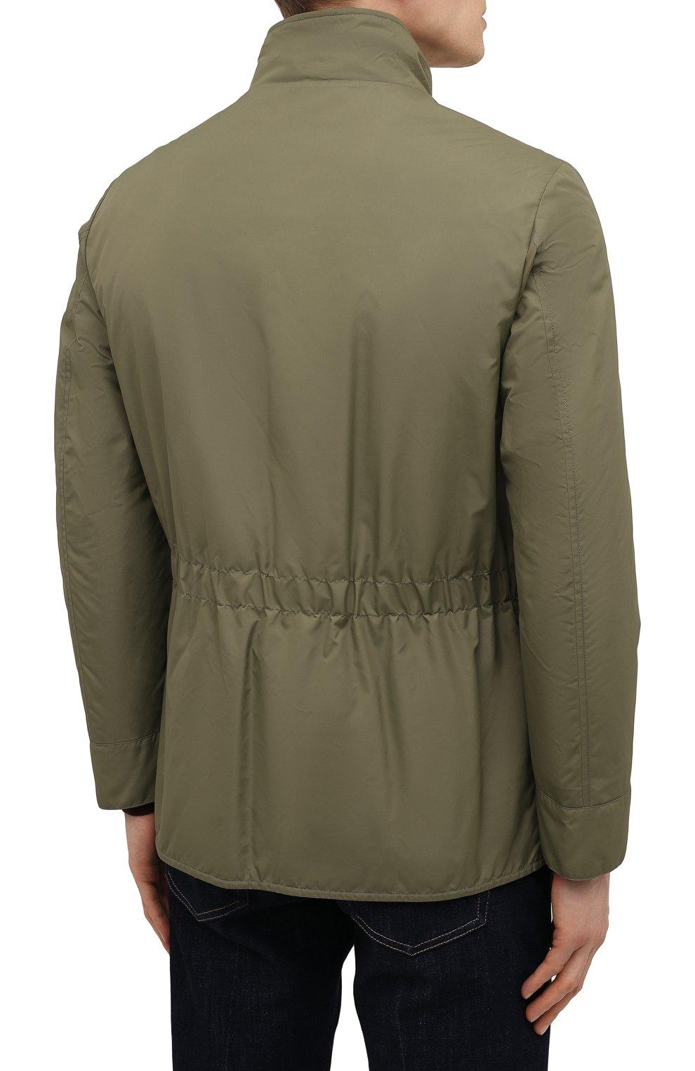 Мужская двусторонняя куртка BRUNELLO CUCINELLI хаки цвета, арт. MW4386495 | Фото 4