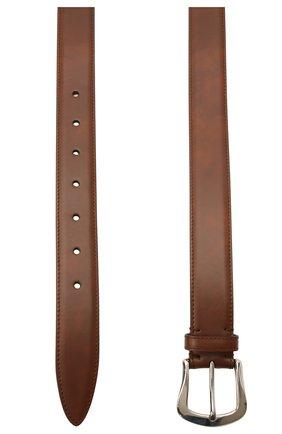 Мужской кожаный ремень BRUNELLO CUCINELLI коричневого цвета, арт. MAURN346 | Фото 2
