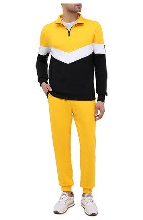 Мужской хлопковая толстовка KNT разноцветного цвета, арт. UMM0121 | Фото 2 (Рукава: Длинные; Материал внешний: Хлопок; Длина (для топов): Стандартные; Мужское Кросс-КТ: Джемперы, свитшот-одежда; Стили: Кэжуэл, Спорт-шик; Принт: Без принта)
