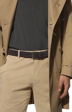 Мужской замшевый ремень LORO PIANA серого цвета, арт. FAA1544 | Фото 2