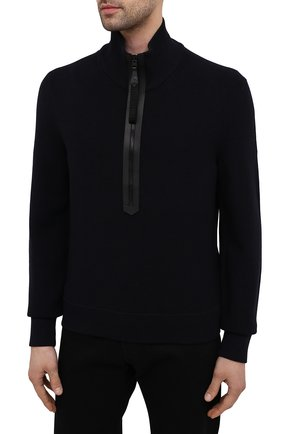 Мужской шерстяной свитер TOM FORD темно-синего цвета, арт. BWM2N/TFK125 | Фото 3