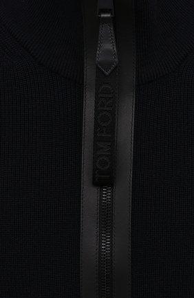 Мужской шерстяной свитер TOM FORD темно-синего цвета, арт. BWM2N/TFK125 | Фото 5