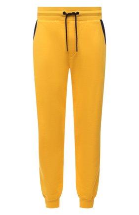 Мужские хлопковые джоггеры KNT желтого цвета, арт. UMM0120 | Фото 1 (Длина (брюки, джинсы): Стандартные; Материал внешний: Хлопок; Силуэт М (брюки): Джоггеры; Кросс-КТ: Спорт; Стили: Спорт-шик; Мужское Кросс-КТ: Брюки-трикотаж)
