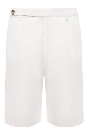 Мужские хлопковые шорты BRUNELLO CUCINELLI белого цвета, арт. M274DG0620 | Фото 1