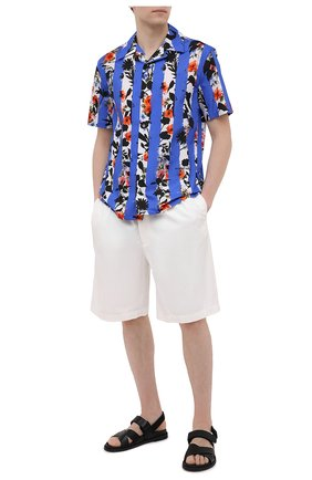 Мужские хлопковые шорты BRUNELLO CUCINELLI белого цвета, арт. M274DG0620 | Фото 2