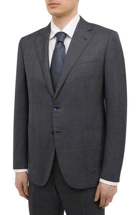 Мужской шерстяной костюм ZILLI серого цвета, арт. MMV-P1241Z1-55601/0001 | Фото 2 (Рукава: Длинные; Материал подклада: Купро; Материал внешний: Шерсть; Стили: Классический; Костюмы М: Однобортный)