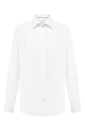 Мужская хлопковая сорочка ETON белого цвета, арт. 1000 02156 | Фото 1 (Материал внешний: Хлопок; Рукава: Длинные; Длина (для топов): Стандартные; Случай: Формальный; Воротник: Кент; Манжеты: На пуговицах; Стили: Классический; Принт: Однотонные; Рубашки М: Regular Fit; Big sizes: Big Sizes)