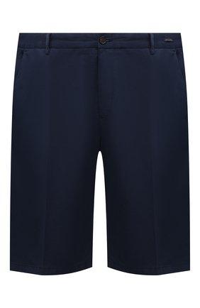 Мужские шорты из хлопка и шелка PAUL&SHARK темно-синего цвета, арт. 21414116/FIZ/62-64 | Фото 1