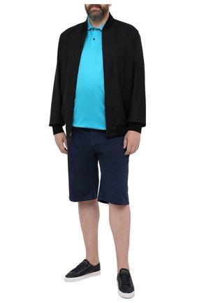 Мужские шорты из хлопка и шелка PAUL&SHARK темно-синего цвета, арт. 21414116/FIZ/62-64 | Фото 2