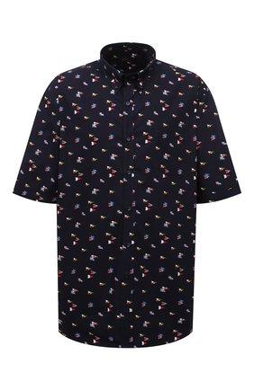 Мужская хлопковая рубашка PAUL&SHARK темно-синего цвета, арт. 21413453/C00 | Фото 1