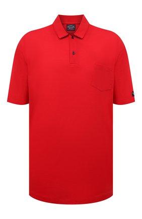 Мужское хлопковое поло PAUL&SHARK красного цвета, арт. 21411204/C00/3XL-6XL | Фото 1