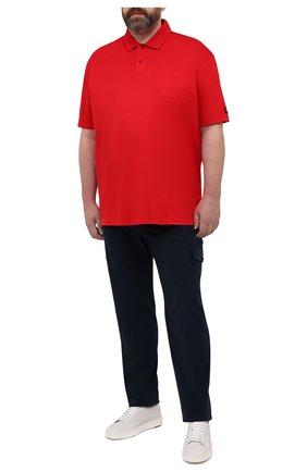 Мужское хлопковое поло PAUL&SHARK красного цвета, арт. 21411204/C00/3XL-6XL | Фото 2