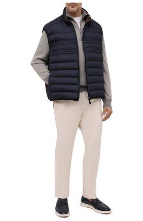 Мужской утепленный жилет BRIONI темно-синего цвета, арт. SWLJ0L/P0908 | Фото 2