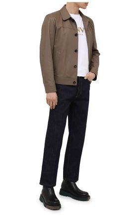 Мужская кожаная куртка BRIONI коричневого цвета, арт. PLZ90L/P7708 | Фото 2
