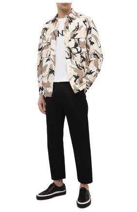 Мужская хлопковая футболка KENZO белого цвета, арт. FA65TS0004SJ | Фото 2 (Материал внешний: Хлопок; Длина (для топов): Стандартные; Принт: С принтом; Рукава: Короткие; Стили: Кэжуэл)