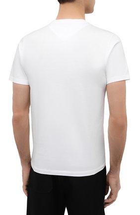 Мужская хлопковая футболка KENZO белого цвета, арт. FA65TS0004SJ   Фото 4 (Рукава: Короткие; Длина (для топов): Стандартные; Принт: С принтом; Материал внешний: Хлопок; Стили: Кэжуэл)